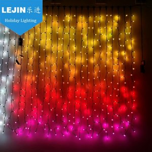 NEW design color changing smart led light curtain for holida